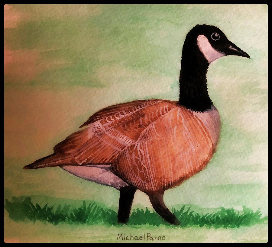 Canada Goose W/ Border Painting