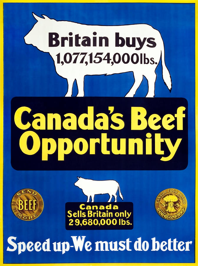 Canadas Beef Opportunity - We Must Do Better - Ww1 Painting