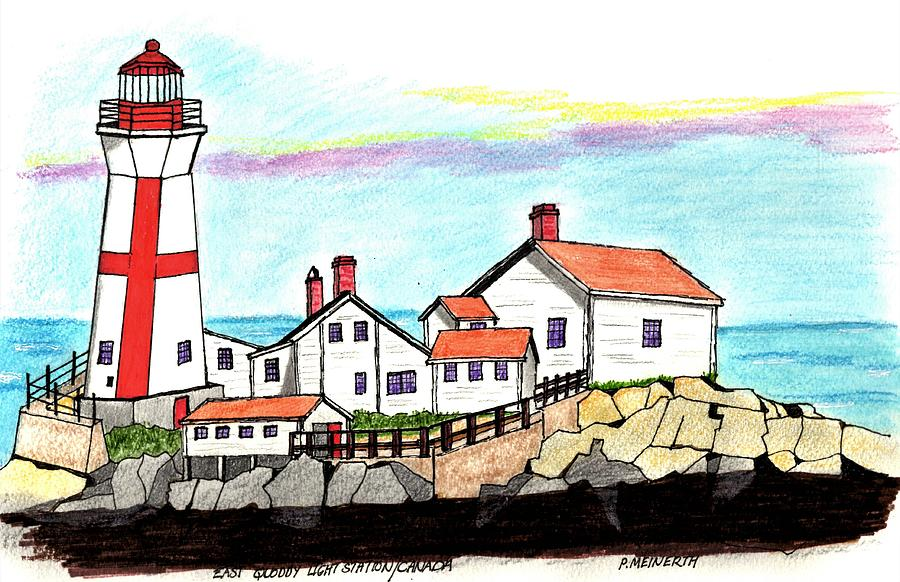 Canadian Light House Drawing