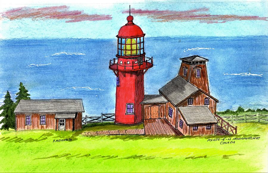 Canadian Lighthouses Drawing