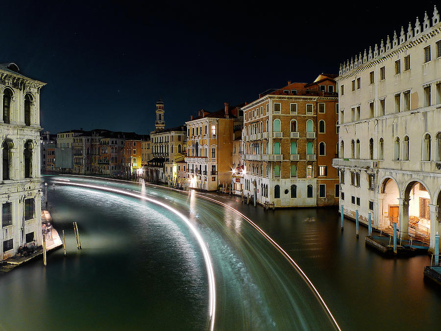 Canal Grande at night Photograph by Bernd Schunack