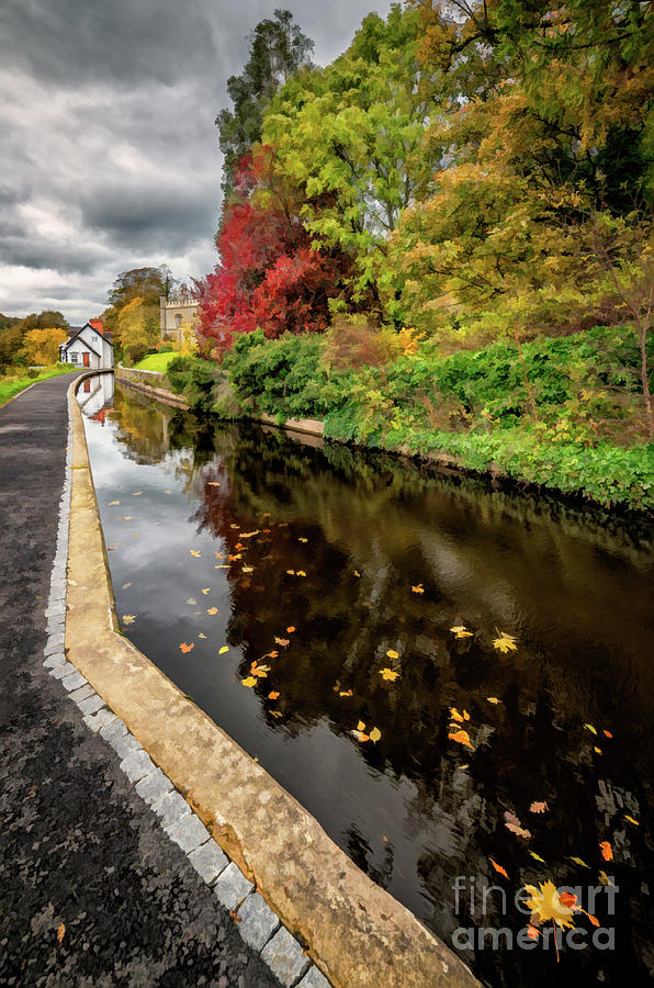 Canal Path Autumn by Adrian Evans