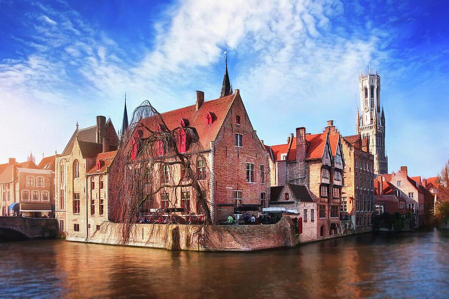 Canal Scenes Of Bruges Belgium Photograph