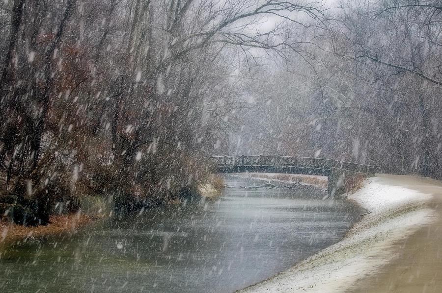Canal Snowfall Photograph