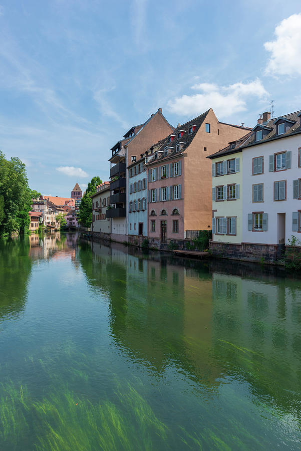 Strasbourg Photograph - Canal Through The City Of Strasbourg by Vicen Photography