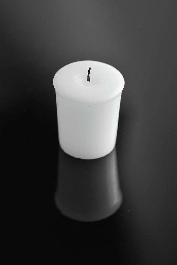 Candle Reflection-bw Photograph
