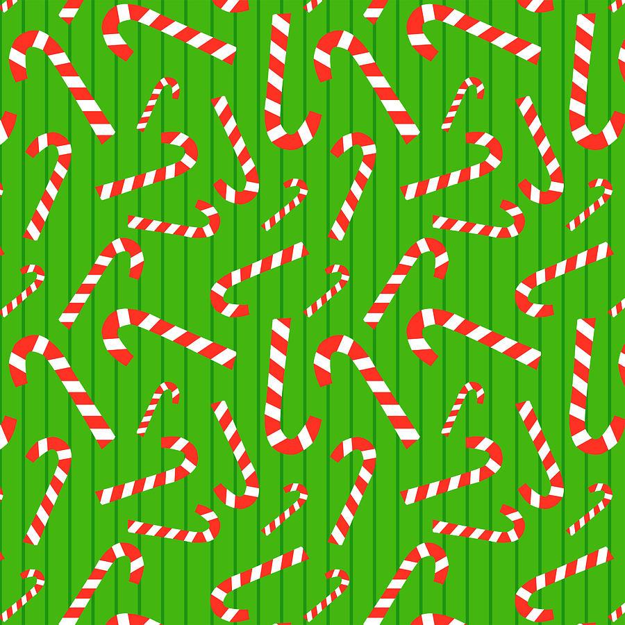 Candy Cane Painting - Candy Cane Pattern - Jen Montgomery by Jen Montgomery