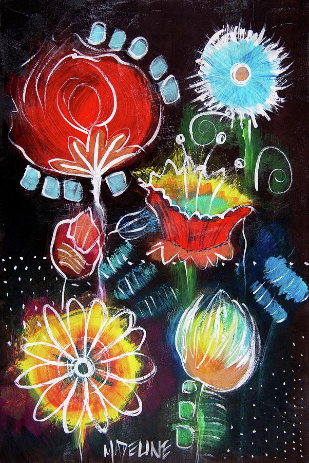 Candy Garden Painting by Madeline Dillner
