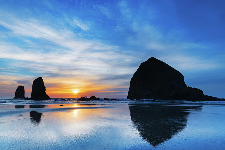 Cannon Beach Sunset Photograph