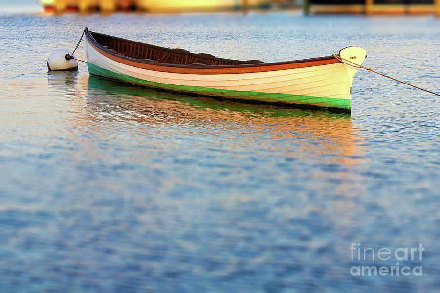 Canoe In Harbor 1 Photograph