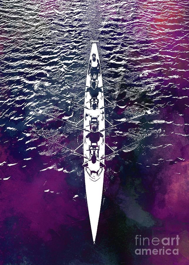 Canoeing Sport Art #canoeing Digital Art