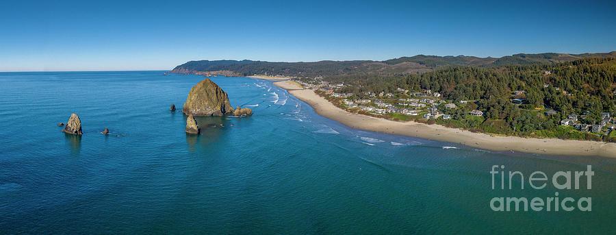 Canon Beach Haystack Rock Panorama Photograph
