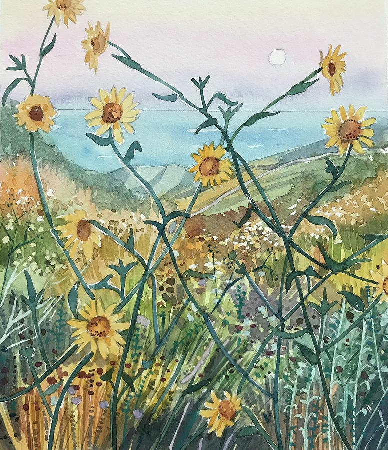 Canyon Sunflowers Painting