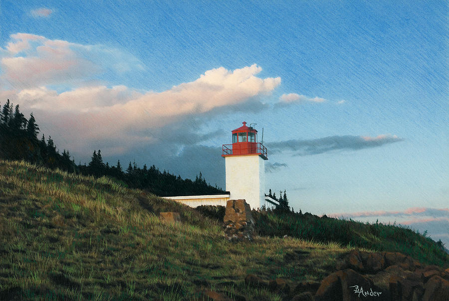 Lighthouse Drawing - Cape DOr by Brent Ander