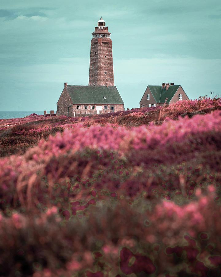 Cap Levi Lighthouse  Barfleur, Arrondissement De Cherbourg, Normandy France 4 - Surreal Art By Ahmet Digital Art