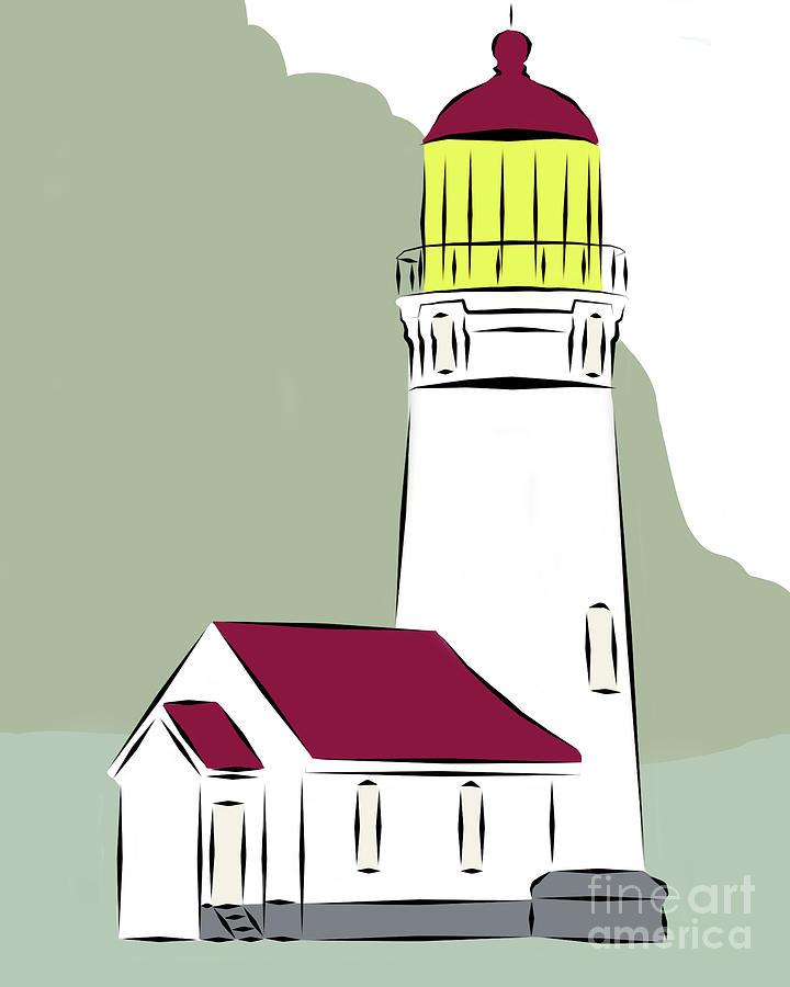 Cape Blanco Lighthouse Digital Art - Cape Blanco by Kirt Tisdale