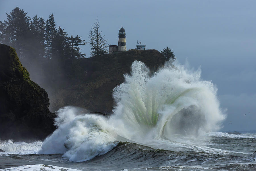 Cape Disappointment Spout by Wes and Dotty Weber