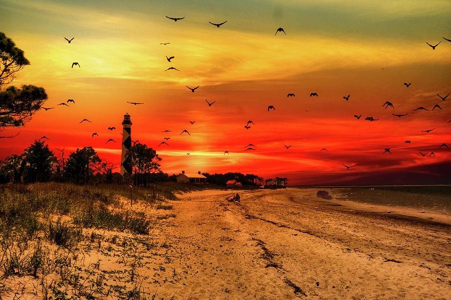 Cape Lookout Sunset Photograph