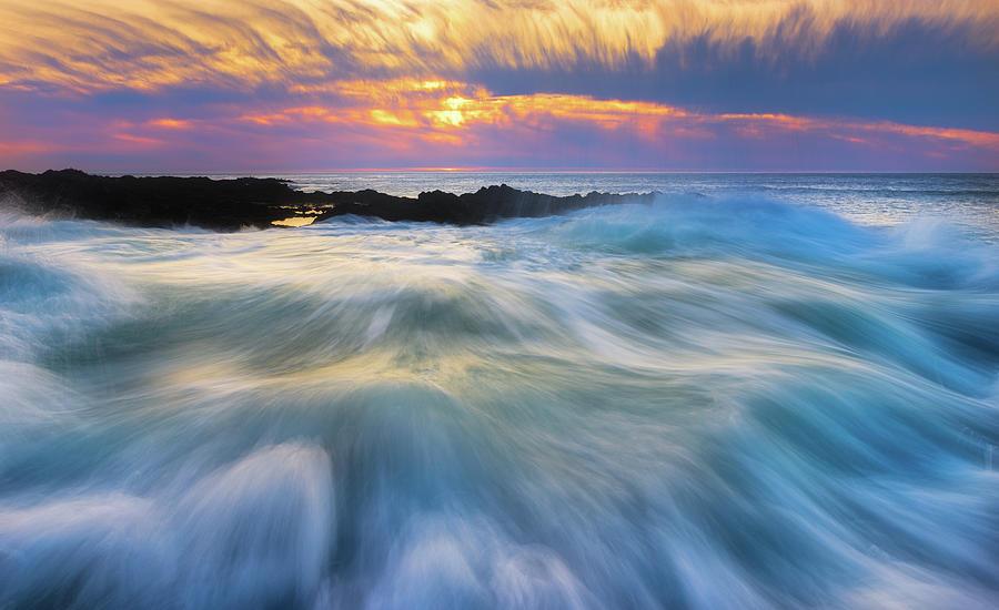 Cape Perpetua Rush Photograph