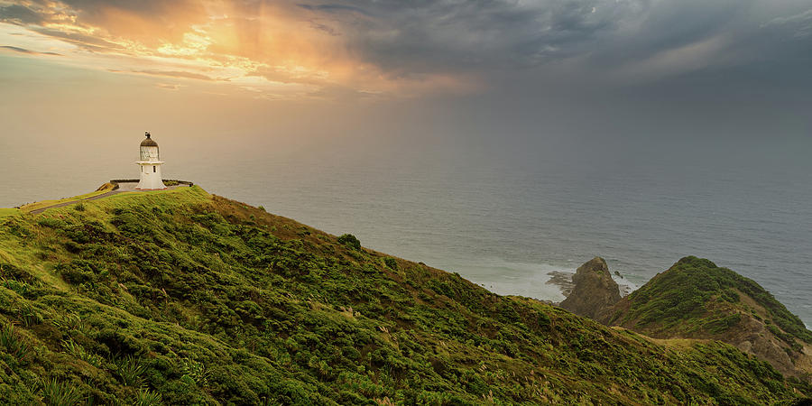 Lighthouse Photograph - Cape Reinga Lighthouse by Dave Bowman