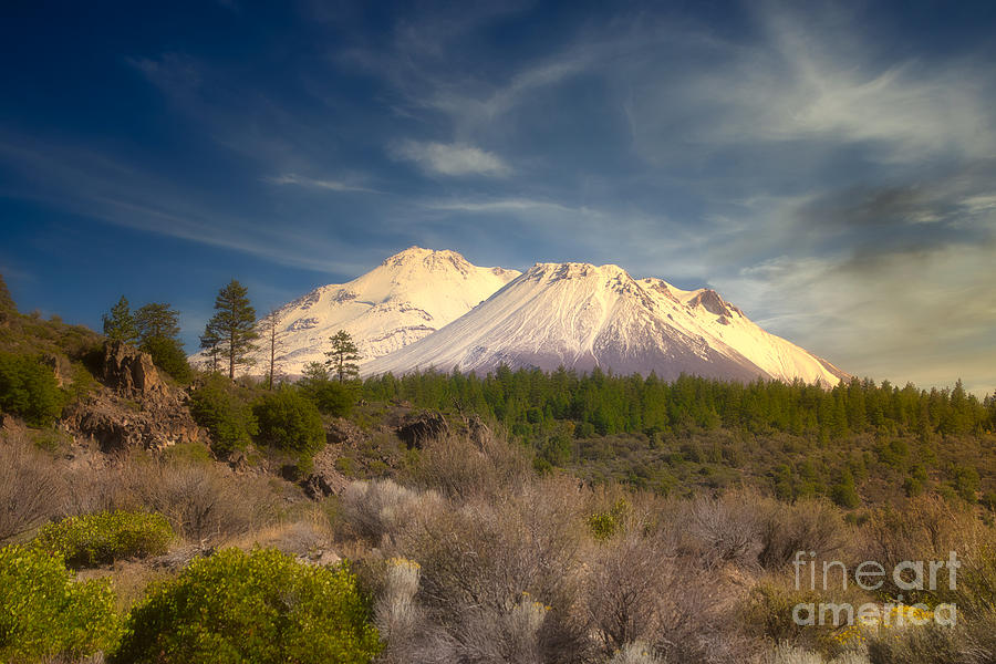 Capped Shasta by Stan Townsend