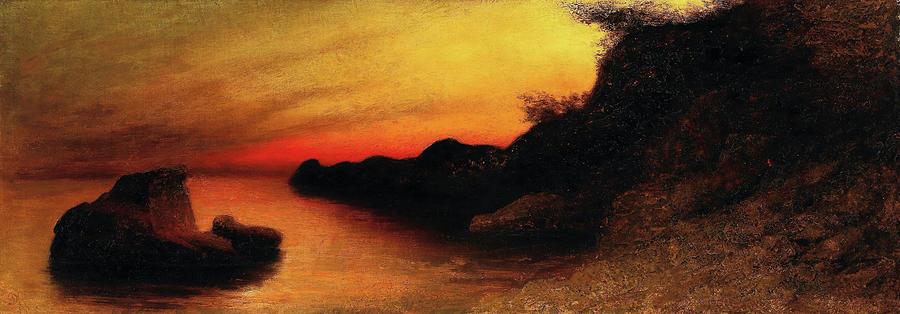 Capri Painting - Capri - Digital Remastered Edition by Karl Wilhelm Diefenbach