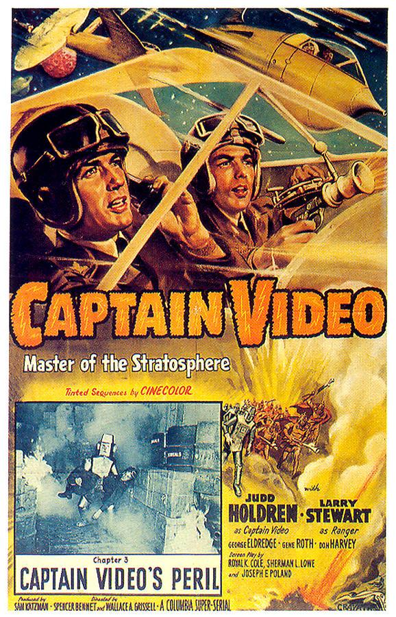 captain Video Movie Poster 1951 Mixed Media