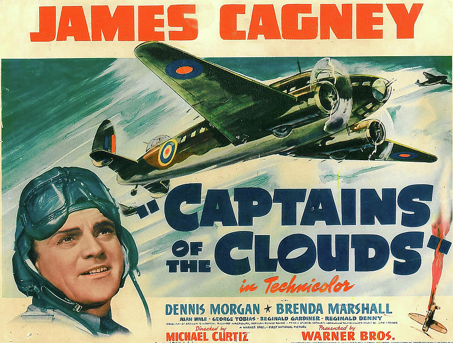 captains Of The Clouds, With James Cagney And Brenda Marshall, 1942 Mixed Media