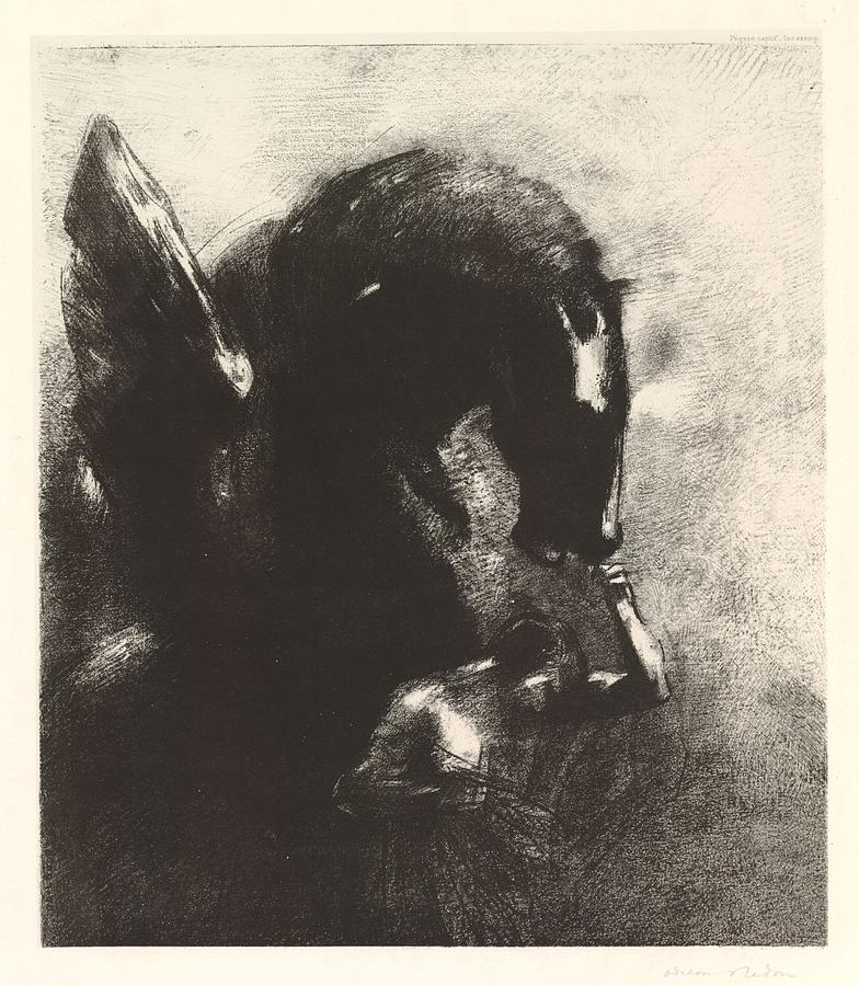 Capture Of Pegasus 1888 By Odilon Redon 1840  1916 Painting