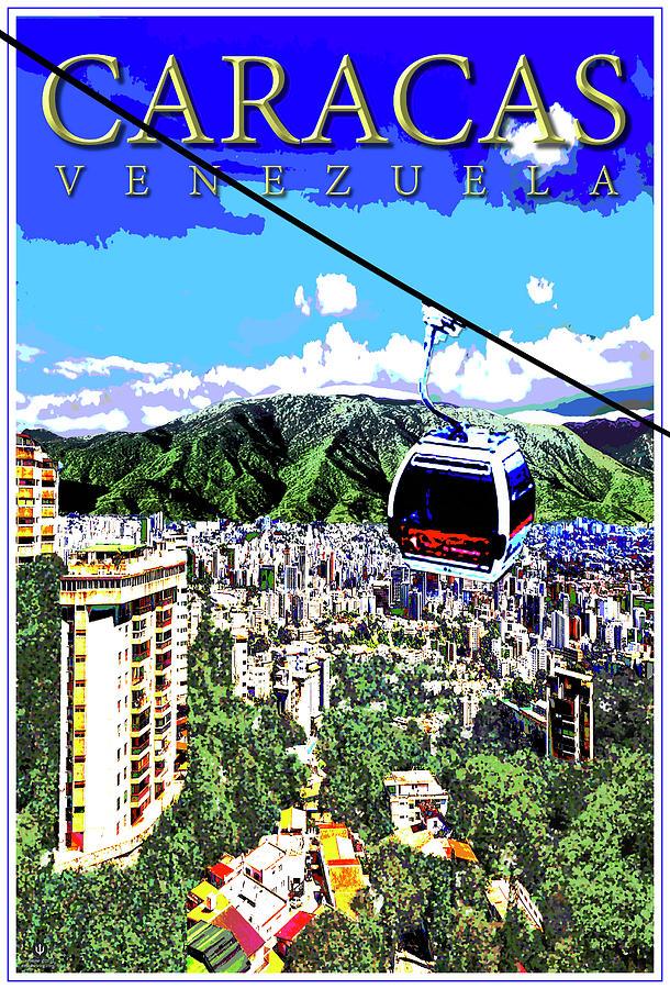 Venezuela Digital Art - Caracas Venezuela by Jason Neptune
