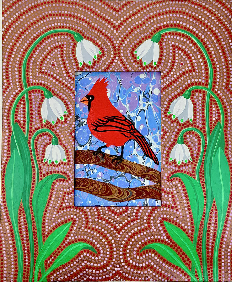 Cardinal in Early Spring by Amanda Lynne