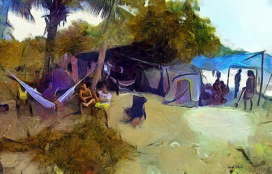 CARIBBEAN SCENES - De Beach Lime by Wayne Pascall