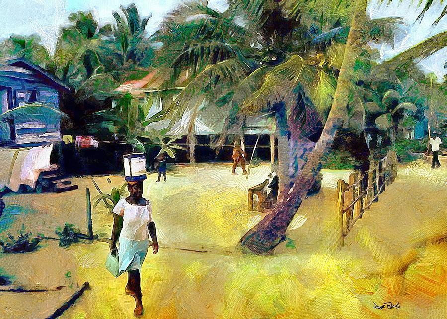 CARIBBEAN SCENES - De Ole Days by Wayne Pascall