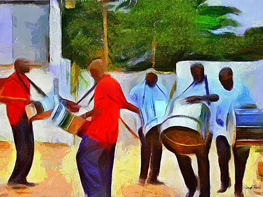 CARIBBEAN SCENES - Pan Around De Neck by Wayne Pascall