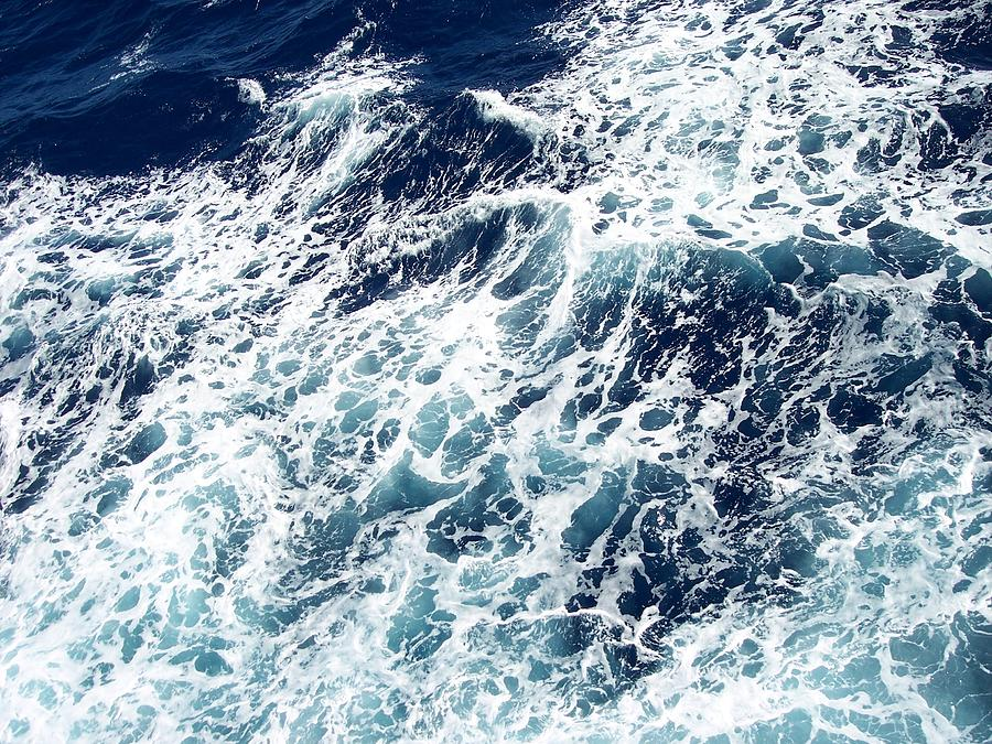 Waves Photograph - Caribbean Waves by Michelle Miron-Rebbe