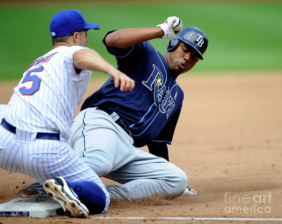Carl Crawford and David Wright Photograph by Icon Sports Wire