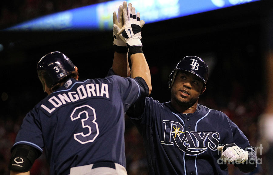 Carl Crawford and Evan Longoria Photograph by Ronald Martinez