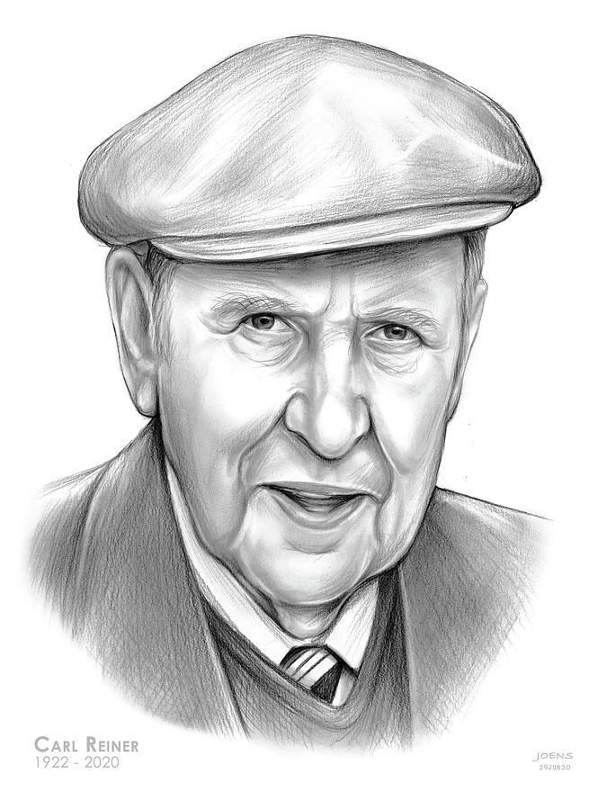 American Drawing - Carl Reiner by Greg Joens