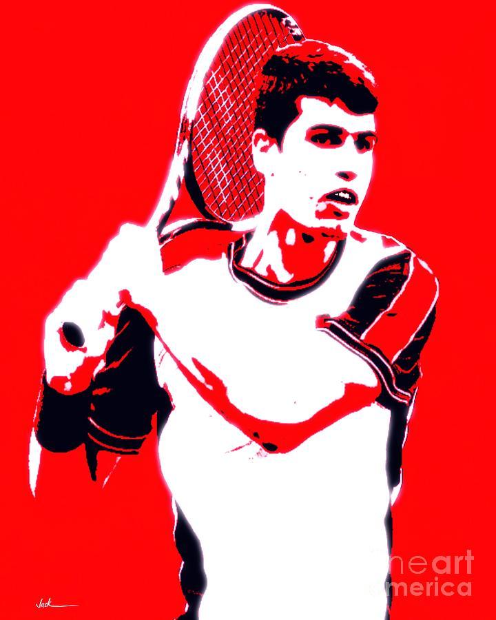 Carlos Painting - Carlos Alcaraz  by Jack Bunds