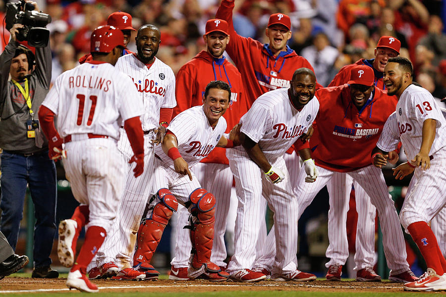 Carlos Ruiz, Ryan Howard, And Jimmy Rollins Photograph by Brian Garfinkel
