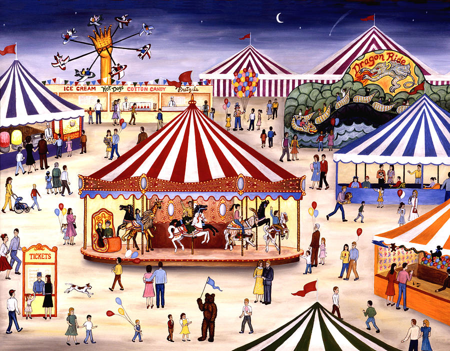 Carnival Painting - Carousel 90 by Linda Mears