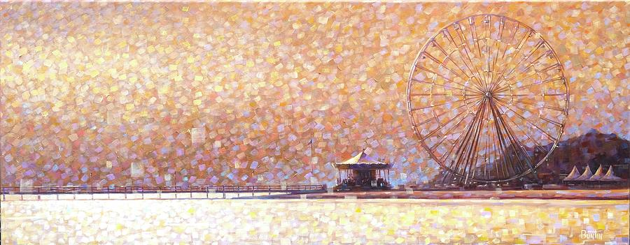 Carousel of Arcachon Painting by Rob Buntin