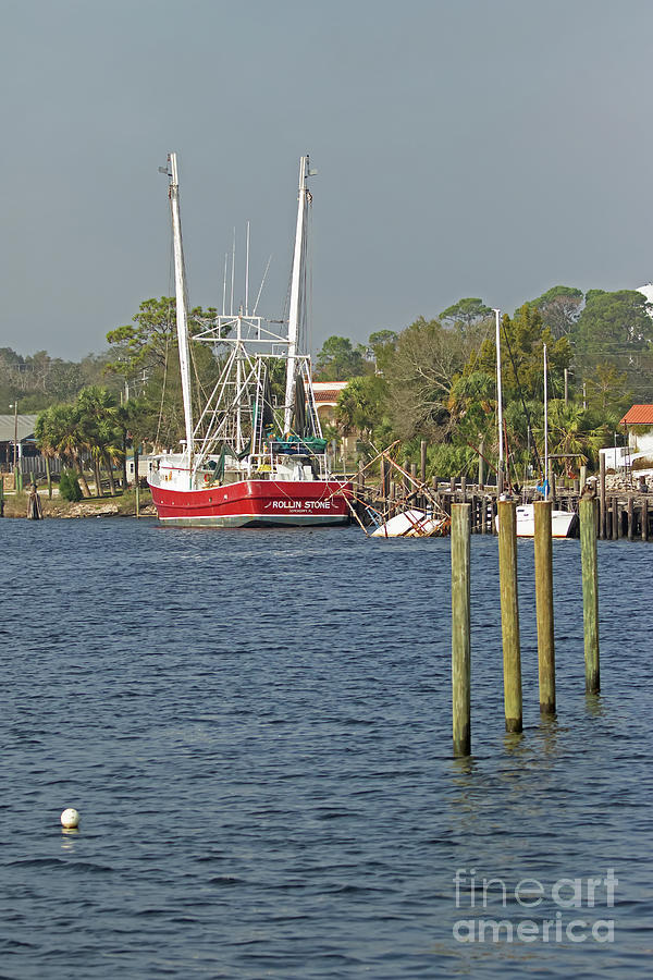 Boat Photograph - Carrabelle Trawler by Banyan Ranch Studios