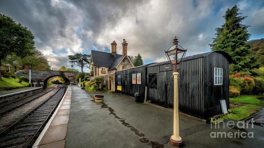 Carrog Railway Station Wales by Adrian Evans