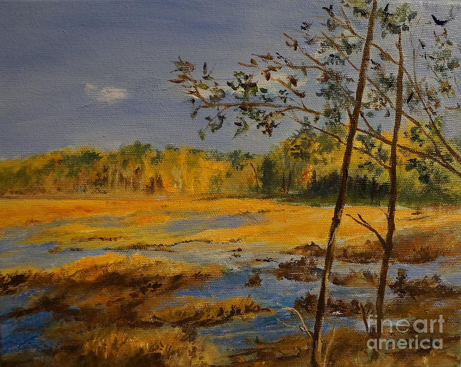 Carters Pond in New York by Barbara Moak