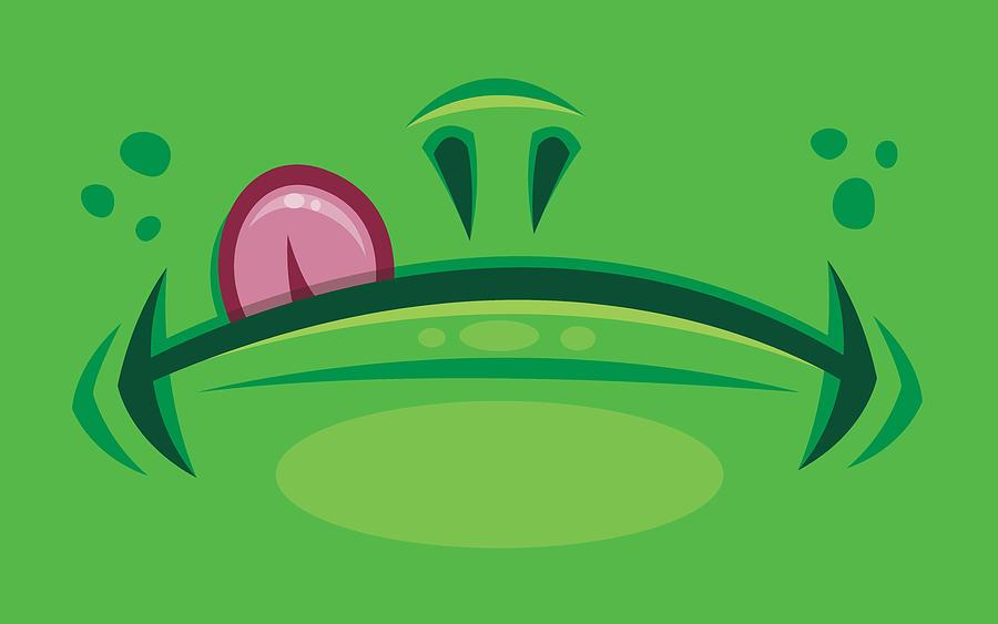 Cartoon Frog Mouth With Tongue Digital Art