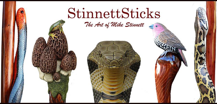 Carved Sticks #1 by Mike Stinnett