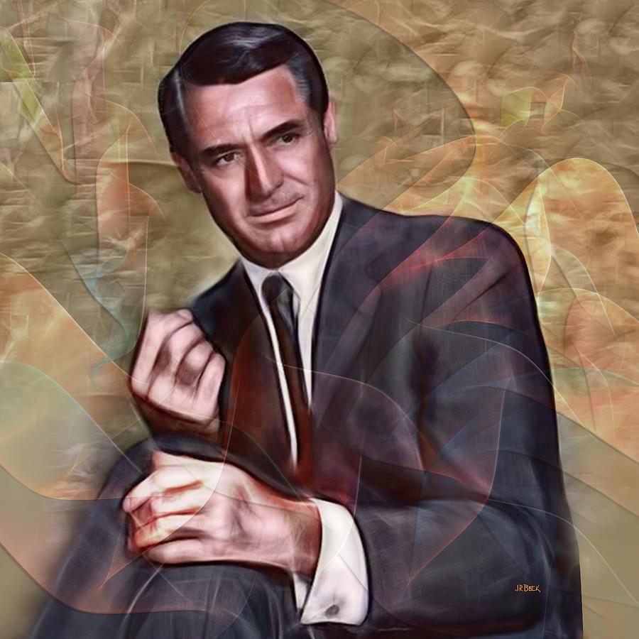 Cary Grant Digital Art - Cary Grant - Square Version by John Robert Beck