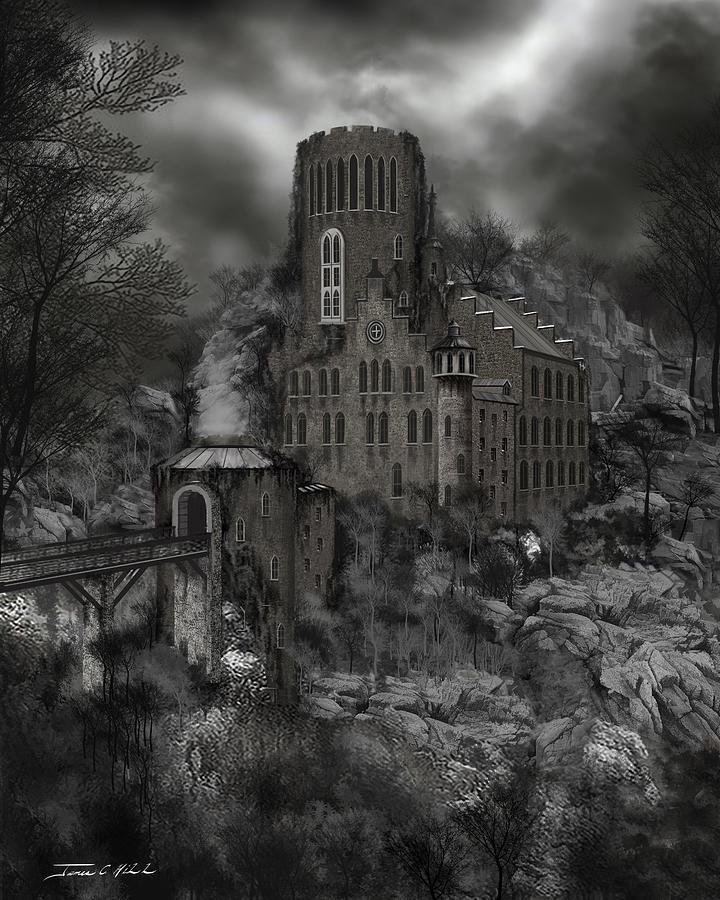 Castle Painting - Casa Los Diavla by James Christopher Hill
