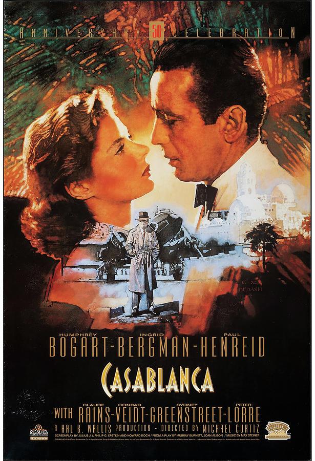 casablanca Poster 1942 Mixed Media